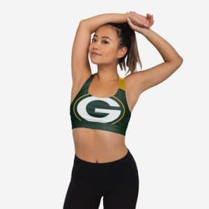 Green Bay Packers Womens Free Fan Sports Bra - L