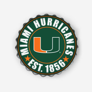 Miami Hurricanes Bottle Cap Wall Sign