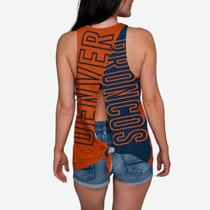 Denver Broncos Womens Tie-Breaker Sleeveless Top - M