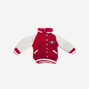 Georgia Bulldogs Fabric Varsity Jacket Ornament