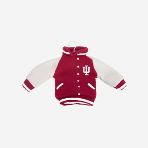 Indiana Hoosiers Fabric Varsity Jacket Ornament