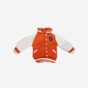 Syracuse Orange Fabric Varsity Jacket Ornament