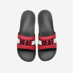 Miami Heat Raised Wordmark Slide - S