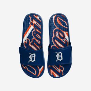 Detroit Tigers Bold Wordmark Gel Slide - M