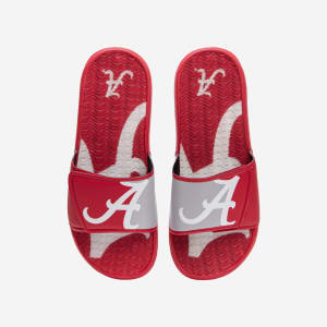 Alabama Crimson Tide Colorblock Big Logo Gel Slide