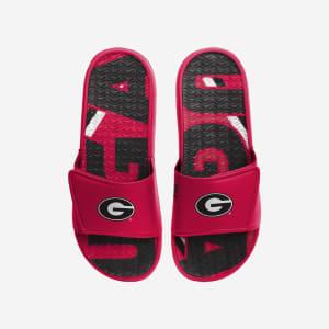 Georgia Bulldogs Bold Wordmark Gel Slide - M