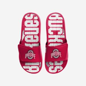 Ohio State Buckeyes Bold Wordmark Gel Slide - L