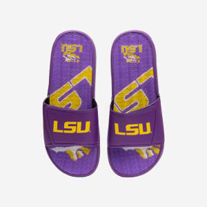 LSU Tigers Wordmark Gel Slide - S