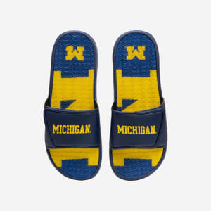 Michigan Wolverines Wordmark Gel Slide - M