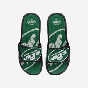 New York Jets Colorblock Big Logo Gel Slide - M