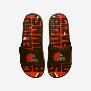 Cleveland Browns Bold Wordmark Gel Slide - M