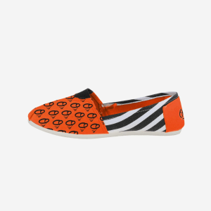 Baltimore Orioles Womens Stripe Canvas Shoe