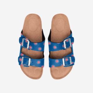 Chicago Cubs Womens Team Logo Double Buckle Sandal - XL