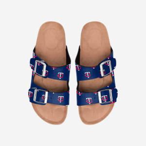 Minnesota Twins Womens Team Logo Double Buckle Sandal - S