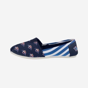 Oklahoma City Thunder Womens Stripe Canvas Shoe - L