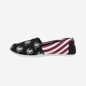 Florida State Seminoles Womens Stripe Canvas Shoe - M