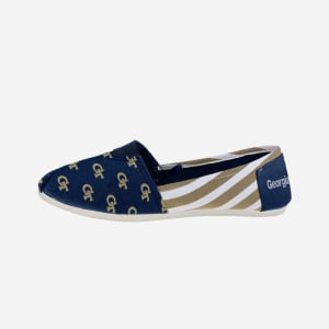 Georgia Tech Yellow Jackets Womens Stripe Canvas Shoe - S