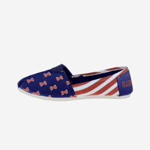 Illinois Fighting Illini Womens Stripe Canvas Shoe - S