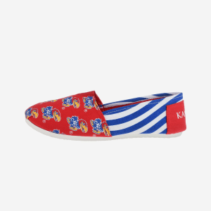 Kansas Jayhawks Womens Stripe Canvas Shoe - XL