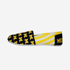Michigan Wolverines Womens Stripe Canvas Shoe - M