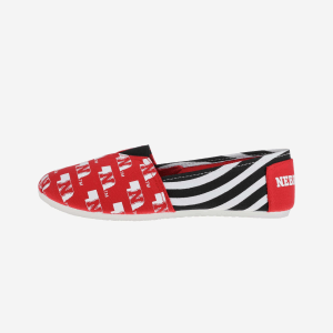 Nebraska Cornhuskers Womens Stripe Canvas Shoe - M