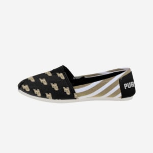 Purdue Boilermakers Womens Stripe Canvas Shoe - S