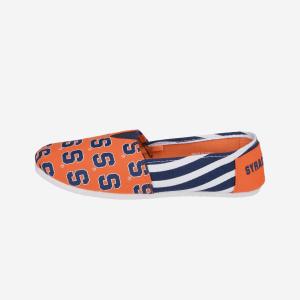 Syracuse Orange Womens Stripe Canvas Shoe - M