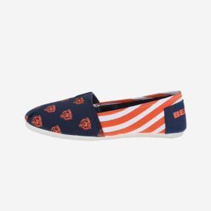 Chicago Bears Womens Stripe Canvas Shoe - L