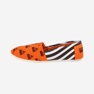 Cleveland Browns Womens Stripe Canvas Shoe - XL