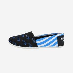 Carolina Panthers Womens Stripe Canvas Shoe - S