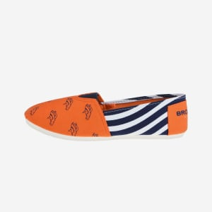 Denver Broncos Womens Stripe Canvas Shoe - S