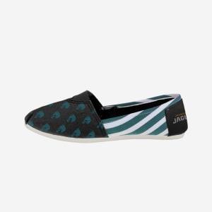 Jacksonville Jaguars Womens Stripe Canvas Shoe - M
