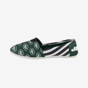 New York Jets Womens Stripe Canvas Shoe - XL