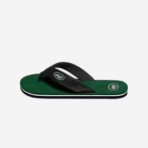 New York Jets Womens Sequin Flip Flop - S