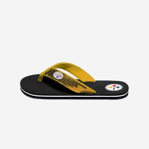 Pittsburgh Steelers Womens Sequin Flip Flop - M