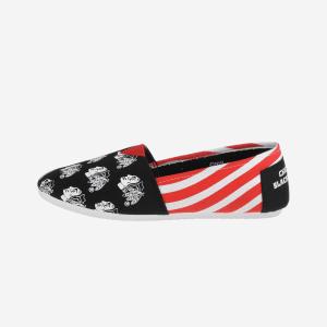 Chicago Blackhawks Womens Stripe Canvas Shoe - L