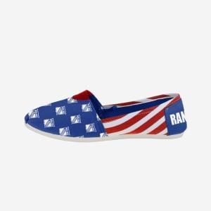 New York Rangers Womens Stripe Canvas Shoe - L
