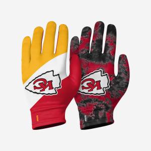 Kansas City Chiefs 2 Pack Reusable Stretch Gloves - L/XL