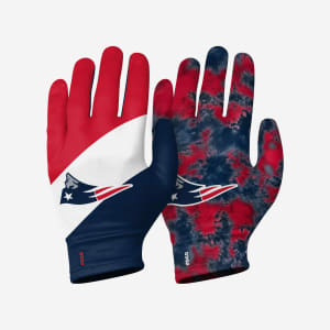 New England Patriots 2 Pack Reusable Stretch Gloves - L/XL