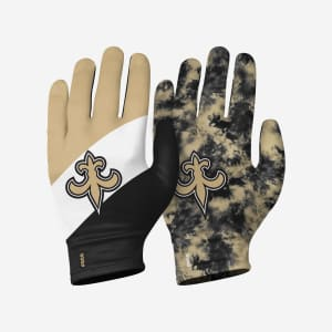 New Orleans Saints 2 Pack Reusable Stretch Gloves - L/XL