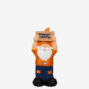Denver Broncos Slogan Sign Mini Gnome