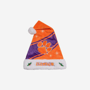 Clemson Tigers High End Santa Hat