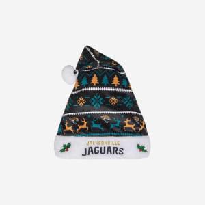 Jacksonville Jaguars Family Holiday Santa Hat