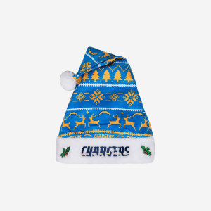 Los Angeles Chargers Family Holiday Santa Hat