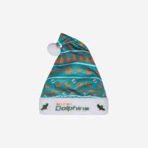 Miami Dolphins Family Holiday Santa Hat
