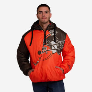 Cleveland Browns Tundra Puffy Poly Fill Pullover - L