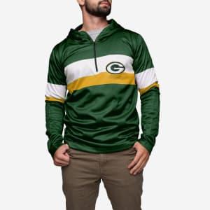 Green Bay Packers Quarter Zip Hoodie