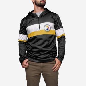 Pittsburgh Steelers Quarter Zip Hoodie - XL