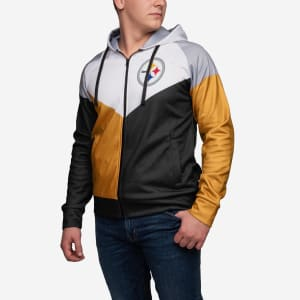 Pittsburgh Steelers Hooded Track Jacket - L