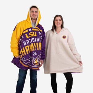 LSU Tigers 2019 Football National Champions Reversible Colorblock Hoodeez